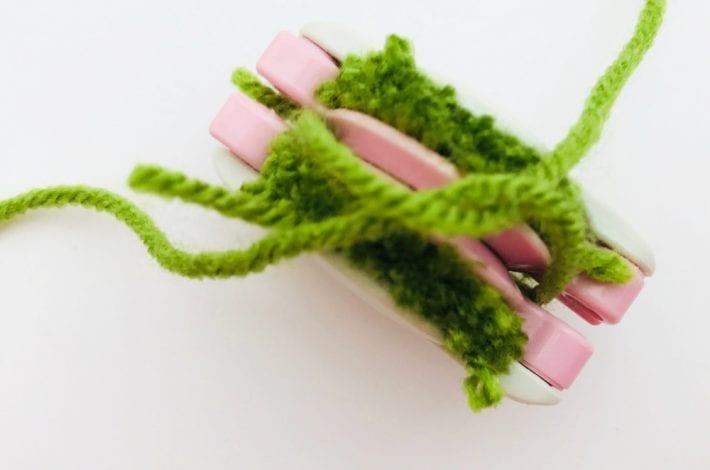 Pom pom peas in a pod - pom pom crafts for kids - enjoy this fun kids craft