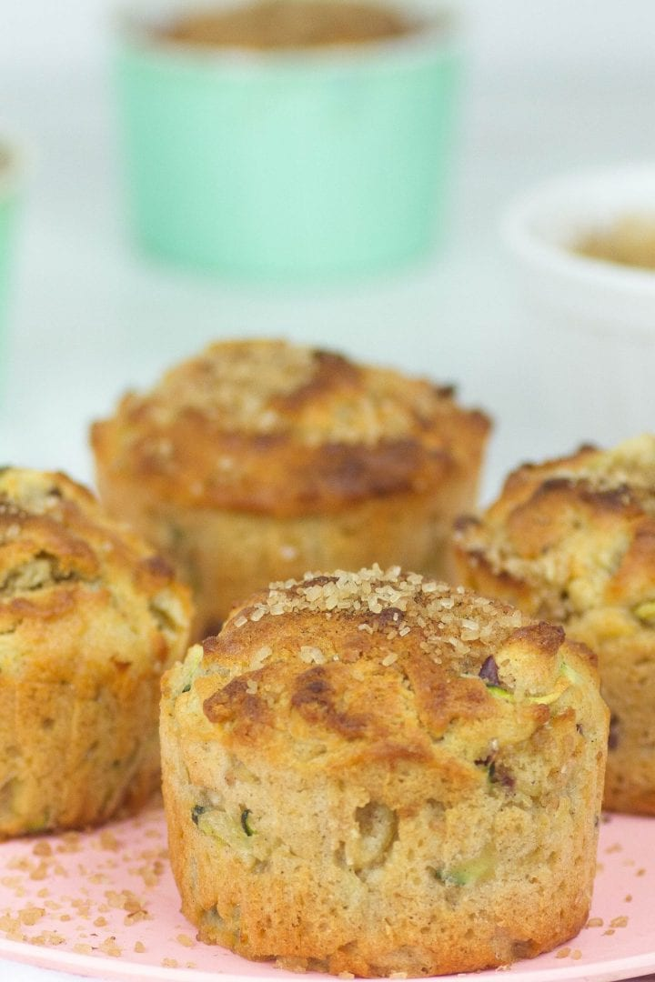 apple zucchini muffins - enjoy these apple and courgette muffins as a healthy snack or treat