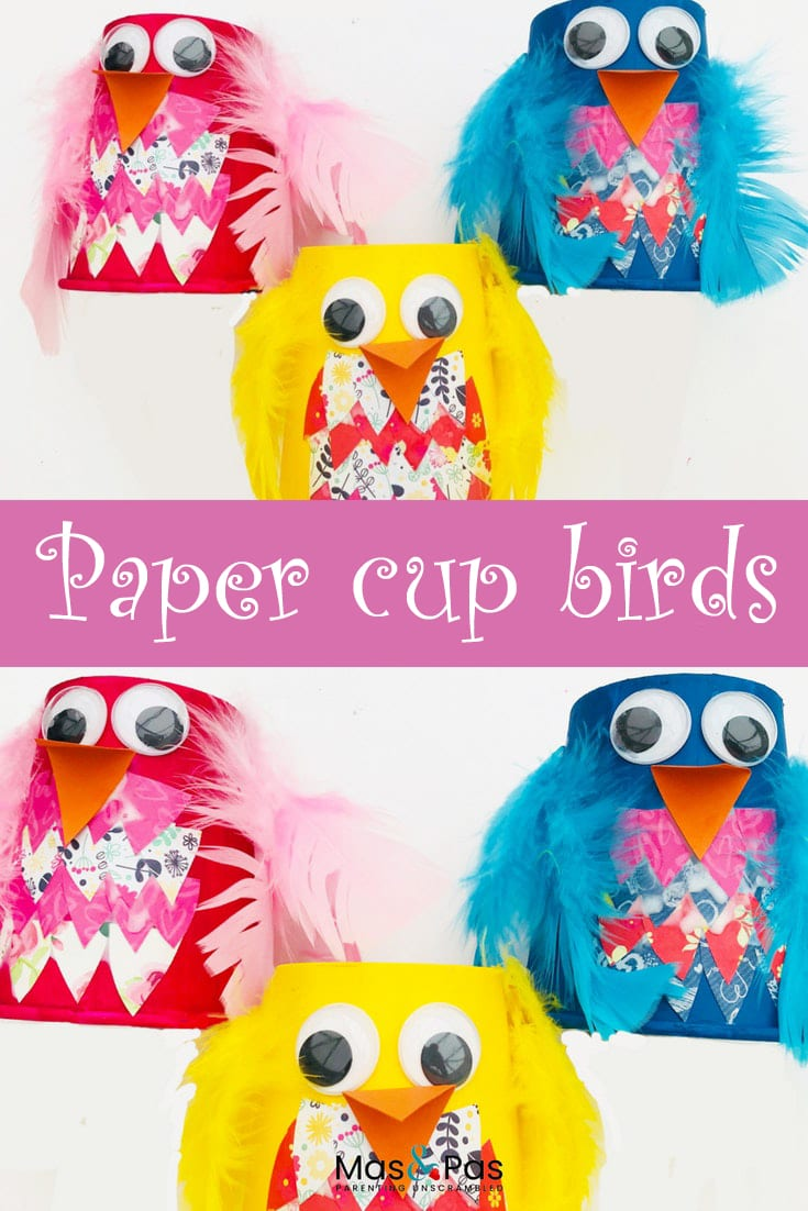 Paper cup birds - craft for kids