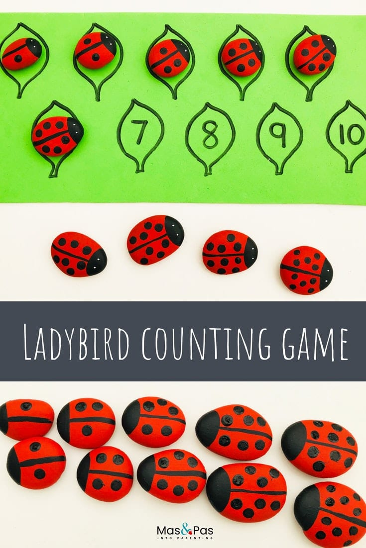 Ladybird counting game for kids - learning to count