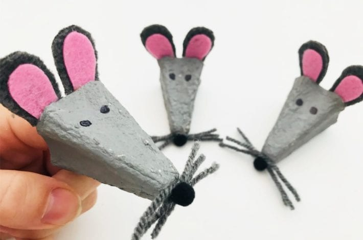 Make the cutest egg box mice finger puppets with this fun kids craft
