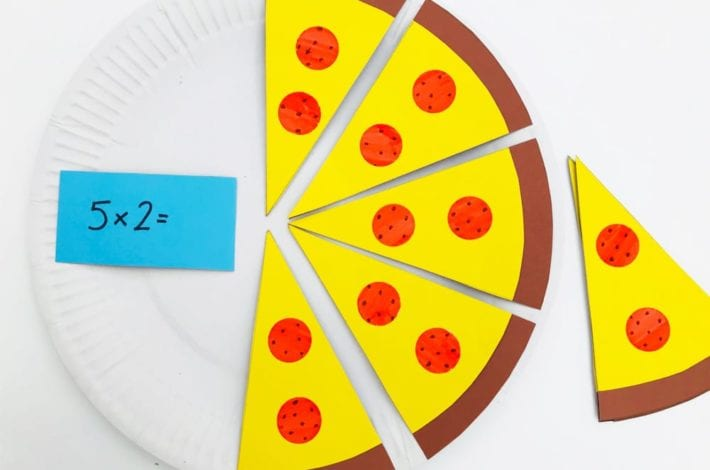 2x table fun pizza game. Times tables game for kids - learn times tables