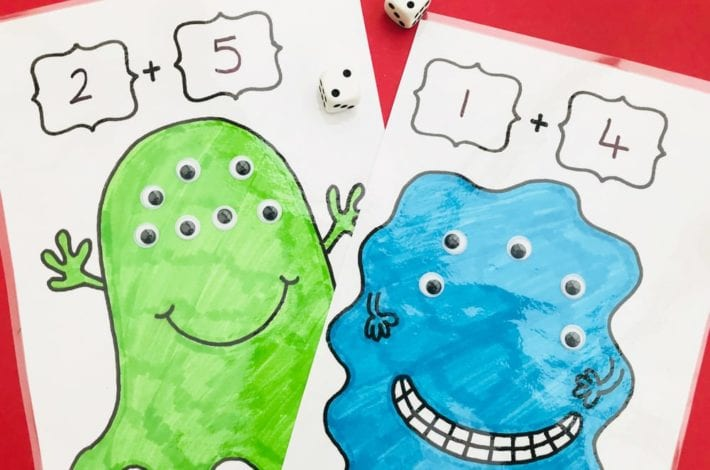 Play this many eyed monsters maths game for kids and have monster fun with number bonds to 10