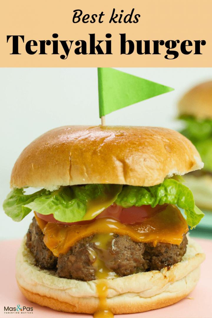 kids teriyaki burger - the ultimate burger for sunday grills or kids party food