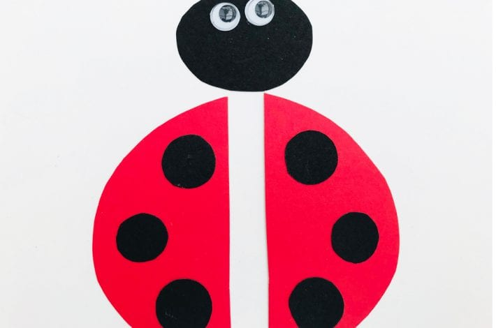 Ladybird finger puppet - enjoy making these animal finger puppets as a fun ladybird craft this summer