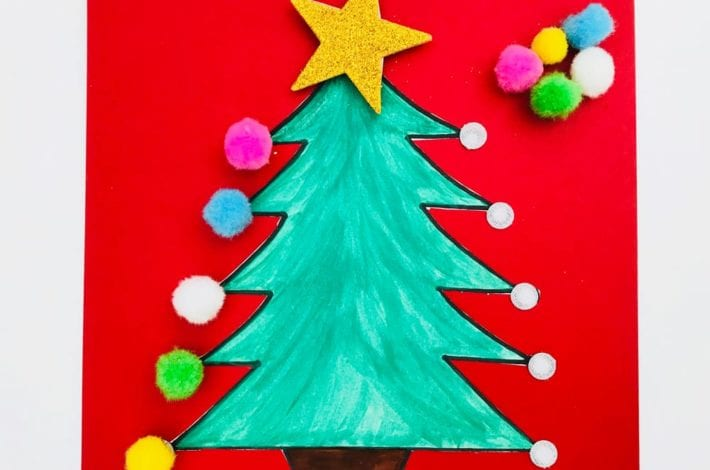 Play this Christmas tree activity with this simple color matching game for preschoolers